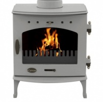 Carron Ash Grey Enamel 4.7kW DEFRA Smoke Exempt Multifuel Stove
